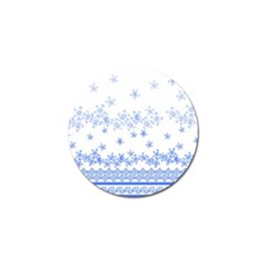 Blue And White Floral Background Golf Ball Marker by Amaryn4rt