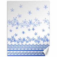 Blue And White Floral Background Canvas 12  X 16   by Amaryn4rt
