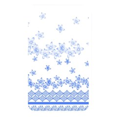 Blue And White Floral Background Memory Card Reader by Amaryn4rt