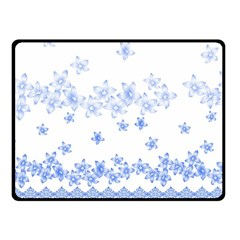 Blue And White Floral Background Fleece Blanket (small) by Amaryn4rt