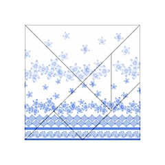 Blue And White Floral Background Acrylic Tangram Puzzle (4  X 4 ) by Amaryn4rt