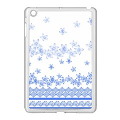 Blue And White Floral Background Apple Ipad Mini Case (white) by Amaryn4rt