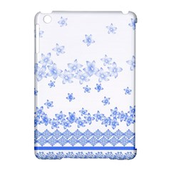 Blue And White Floral Background Apple Ipad Mini Hardshell Case (compatible With Smart Cover) by Amaryn4rt