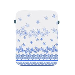 Blue And White Floral Background Apple Ipad 2/3/4 Protective Soft Cases by Amaryn4rt
