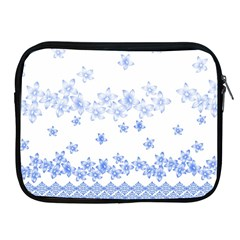 Blue And White Floral Background Apple Ipad 2/3/4 Zipper Cases by Amaryn4rt