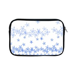 Blue And White Floral Background Apple Ipad Mini Zipper Cases by Amaryn4rt