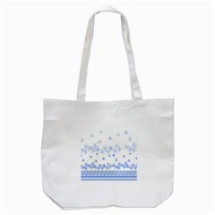 Blue And White Floral Background Tote Bag (white) by Amaryn4rt