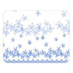 Blue And White Floral Background Double Sided Flano Blanket (large)  by Amaryn4rt