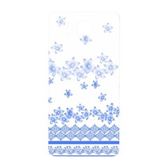 Blue And White Floral Background Samsung Galaxy Alpha Hardshell Back Case by Amaryn4rt