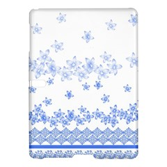 Blue And White Floral Background Samsung Galaxy Tab S (10 5 ) Hardshell Case