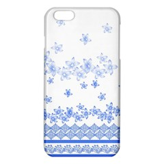 Blue And White Floral Background Iphone 6 Plus/6s Plus Tpu Case by Amaryn4rt