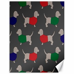 Cute Dachshund Dogs Wearing Jumpers Wallpaper Pattern Background Canvas 18  X 24