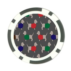 Cute Dachshund Dogs Wearing Jumpers Wallpaper Pattern Background Poker Chip Card Guard (10 Pack) by Amaryn4rt