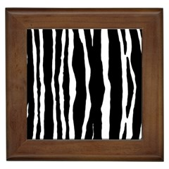 Zebra Background Pattern Framed Tiles by Amaryn4rt