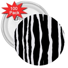 Zebra Background Pattern 3  Buttons (100 Pack)
