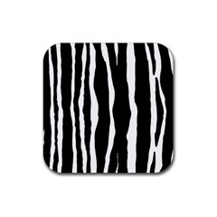 Zebra Background Pattern Rubber Square Coaster (4 Pack)  by Amaryn4rt