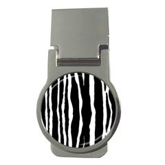 Zebra Background Pattern Money Clips (round)  by Amaryn4rt