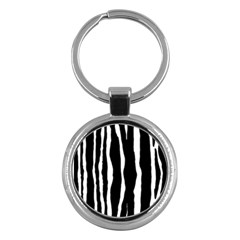 Zebra Background Pattern Key Chains (round)  by Amaryn4rt