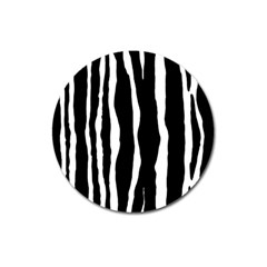 Zebra Background Pattern Magnet 3  (round) by Amaryn4rt
