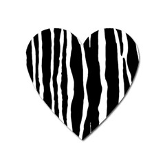 Zebra Background Pattern Heart Magnet by Amaryn4rt