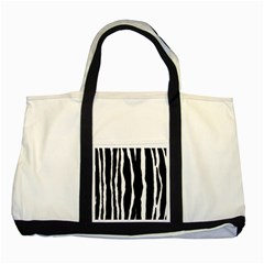 Zebra Background Pattern Two Tone Tote Bag by Amaryn4rt