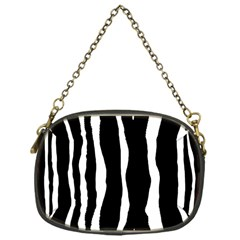 Zebra Background Pattern Chain Purses (one Side)  by Amaryn4rt