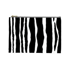 Zebra Background Pattern Cosmetic Bag (large)  by Amaryn4rt