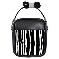 Zebra Background Pattern Girls Sling Bags by Amaryn4rt