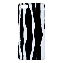 Zebra Background Pattern Apple Iphone 5 Premium Hardshell Case by Amaryn4rt