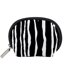 Zebra Background Pattern Accessory Pouches (small)  by Amaryn4rt
