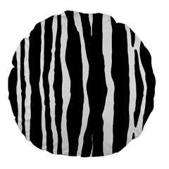 Zebra Background Pattern Large 18  Premium Flano Round Cushions by Amaryn4rt