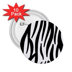 Seamless Zebra A Completely Zebra Skin Background Pattern 2 25  Buttons (10 Pack)  by Amaryn4rt