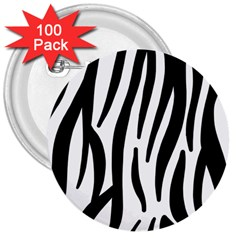Seamless Zebra A Completely Zebra Skin Background Pattern 3  Buttons (100 Pack)  by Amaryn4rt
