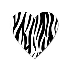 Seamless Zebra A Completely Zebra Skin Background Pattern Heart Magnet by Amaryn4rt