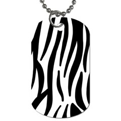 Seamless Zebra A Completely Zebra Skin Background Pattern Dog Tag (one Side) by Amaryn4rt