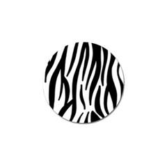 Seamless Zebra A Completely Zebra Skin Background Pattern Golf Ball Marker (10 Pack) by Amaryn4rt