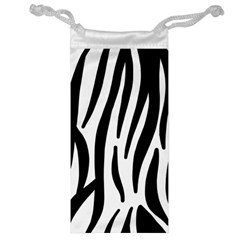 Seamless Zebra A Completely Zebra Skin Background Pattern Jewelry Bag by Amaryn4rt