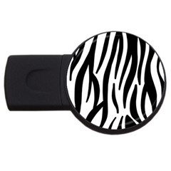 Seamless Zebra A Completely Zebra Skin Background Pattern Usb Flash Drive Round (4 Gb) by Amaryn4rt