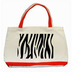 Seamless Zebra A Completely Zebra Skin Background Pattern Classic Tote Bag (red) by Amaryn4rt