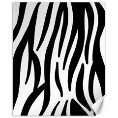 Seamless Zebra A Completely Zebra Skin Background Pattern Canvas 11  X 14   by Amaryn4rt