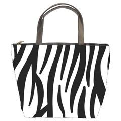 Seamless Zebra A Completely Zebra Skin Background Pattern Bucket Bags by Amaryn4rt
