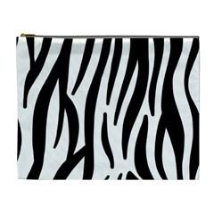 Seamless Zebra A Completely Zebra Skin Background Pattern Cosmetic Bag (xl) by Amaryn4rt