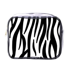 Seamless Zebra A Completely Zebra Skin Background Pattern Mini Toiletries Bags by Amaryn4rt