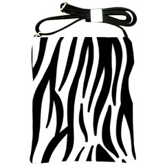 Seamless Zebra A Completely Zebra Skin Background Pattern Shoulder Sling Bags by Amaryn4rt