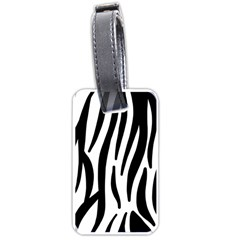 Seamless Zebra A Completely Zebra Skin Background Pattern Luggage Tags (two Sides) by Amaryn4rt