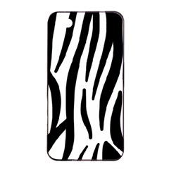 Seamless Zebra A Completely Zebra Skin Background Pattern Apple Iphone 4/4s Seamless Case (black) by Amaryn4rt
