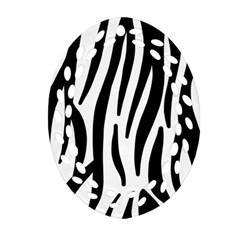 Seamless Zebra A Completely Zebra Skin Background Pattern Ornament (oval Filigree) by Amaryn4rt