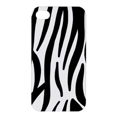 Seamless Zebra A Completely Zebra Skin Background Pattern Apple Iphone 4/4s Premium Hardshell Case by Amaryn4rt