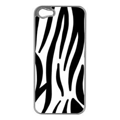 Seamless Zebra A Completely Zebra Skin Background Pattern Apple Iphone 5 Case (silver) by Amaryn4rt