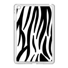 Seamless Zebra A Completely Zebra Skin Background Pattern Apple Ipad Mini Case (white) by Amaryn4rt